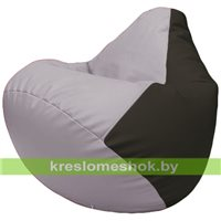 Бескаркасное кресло-мешок Груша Г2.3-2516 сиреневый, чёрный