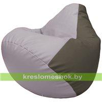 Бескаркасное кресло-мешок Груша Г2.3-2517 сиреневый, серый