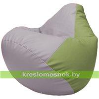 Бескаркасное кресло-мешок Груша Г2.3-2519 сиреневый, оливковый