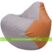 Бескаркасное кресло-мешок Груша Г2.3-2520 сиреневый, оранжевый