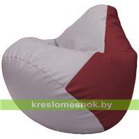 Бескаркасное кресло-мешок Груша Г2.3-2521 сиреневый, бордовый