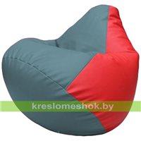 Бескаркасное кресло-мешок Груша Г2.3-3609 голубой, красный