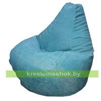 Кресло мешок Груша голубое мини