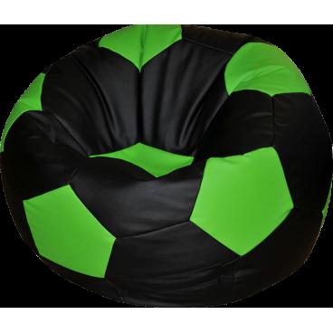 """Кресло-мешок """"Мяч Стандарт"""" черно-салатовый"""