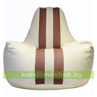 Кресло мешок Спортинг кремово-коричневый