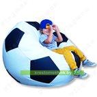 Кресло-мешок Мяч Стандарт бело-черное