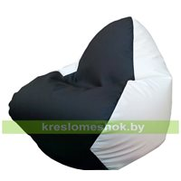 Кресло мешок RELAX чёрно-белое