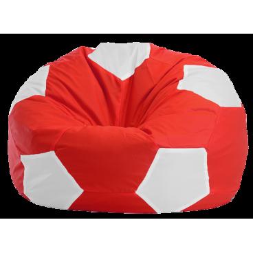 """Кресло-мешок """"Мяч Стандарт"""" красно-белое"""