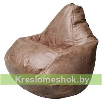 Бескаркасное кресло-мешок Груша Г2.3-111 коричневый