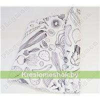 Чехол для кресла мешка груши Смак (трафарет) Ч2.6-051 (хлопок)