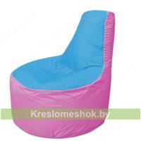 Кресло мешок Трон Т1.1-1303(голубой-розовый)