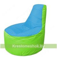 Кресло мешок Трон Т1.1-1307(голубой-салатовый)