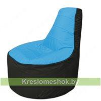 Кресло мешок Трон Т1.1-1324(голубой-чёрный)