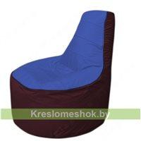 Кресло мешок Трон Т1.1-1401(синий-бордовый)