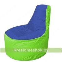 Кресло мешок Трон Т1.1-1407(синий-салатовый)
