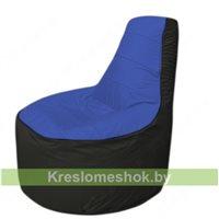 Кресло мешок Трон Т1.1-1424(синий-черный)