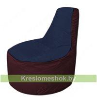 Кресло мешок Трон Т1.1-1601(тем.синий-бордовый)