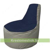 Кресло мешок Трон Т1.1-1622(тем.синий-серый)