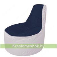 Кресло мешок Трон Т1.1-1625(тем.синий-белый)