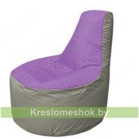 Кресло мешок Трон Т1.1-1722(сиренивый-серый)
