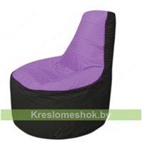 Кресло мешок Трон Т1.1-1724(сиренивый-черный)