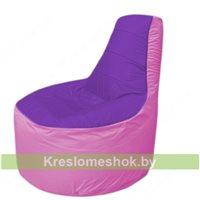 Кресло мешок Трон Т1.1-1803(фиолетовый-розовый)