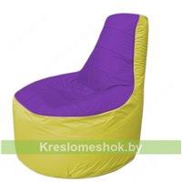 Кресло мешок Трон Т1.1-1806(фиолетовый-желтый)