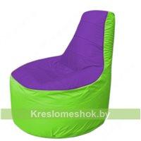 Кресло мешок Трон Т1.1-1807(фиолетовый-салатовый)