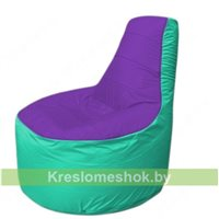 Кресло мешок Трон Т1.1-1812(фиолетовый-бирюзовый)