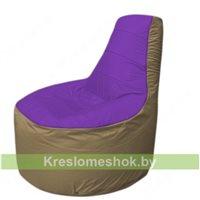 Кресло мешок Трон Т1.1-1821(фиолетовый-тем.бежевый)