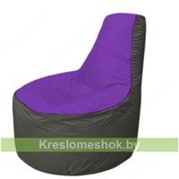 Кресло мешок Трон Т1.1-1822(фиолетовый-серый)