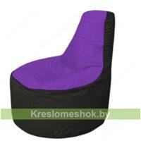 Кресло мешок Трон Т1.1-1823(фиолетовый-тем.серый)