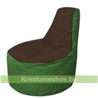 Кресло мешок Трон Т1.1-1908(коричневый-зеленый)