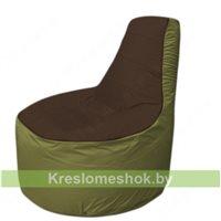 Кресло мешок Трон Т1.1-1910(коричневый-оливковый)