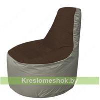 Кресло мешок Трон Т1.1-1922(коричневый-серый)