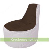 Кресло мешок Трон Т1.1-1925(коричневый-белый)
