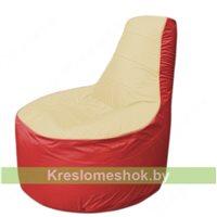 Кресло мешок Трон Т1.1-2002(бежевый-красный)