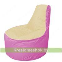 Кресло мешок Трон Т1.1-2003(бежевый-розовый)