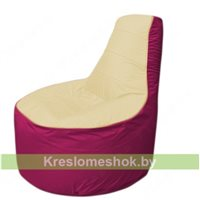 Кресло мешок Трон Т1.1-2004(бежевый-фуксия)