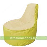 Кресло мешок Трон Т1.1-2006(бежевый-желтый)