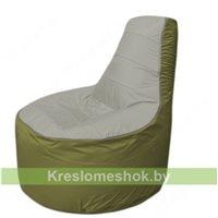 Кресло мешок Трон Т1.1-2210(серый-оливковый)