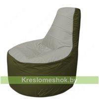 Кресло мешок Трон Т1.1-2211(серый-тем.оливковый)