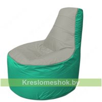 Кресло мешок Трон Т1.1-2212(серый-бирюзовый)