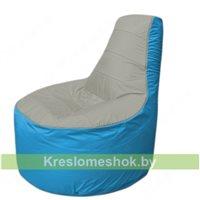 Кресло мешок Трон Т1.1-2213(серый-голубой)