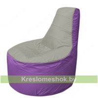Кресло мешок Трон Т1.1-2217(серый-сиреневый)