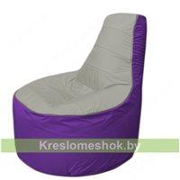 Кресло мешок Трон Т1.1-2218(серый-фиолетовый)
