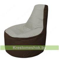 Кресло мешок Трон Т1.1-2219(серый-коричневый)