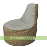 Кресло мешок Трон Т1.1-2221(серый-тем.бежевый)