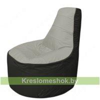 Кресло мешок Трон Т1.1-2224(серый-черный)