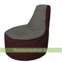 Кресло мешок Трон Т1.1-2301(тем.серый-бордовый)